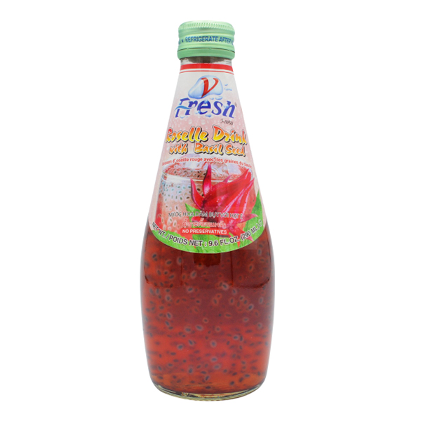 Basil Seed Drink w/ Rose Flavor - 290mL