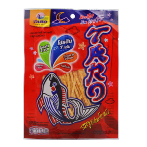 Taro Fish Snack Hot Chili - 30g