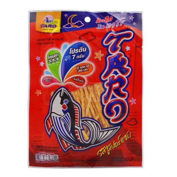 Taro Fish Snack Hot Chili - 30g