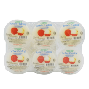 Cocon Lychee Pudding (6 Cups) - 480g