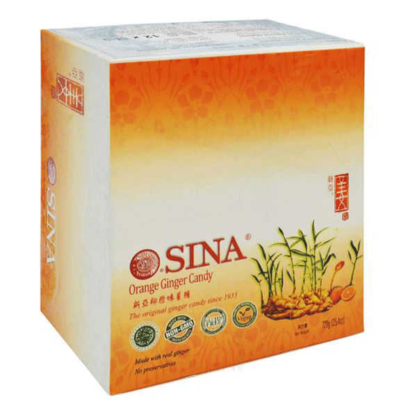 Sina Orange Ginger Candy - 60g