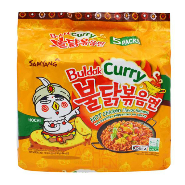 Hot Chicken Flavor Ramen Curry - 5*140g