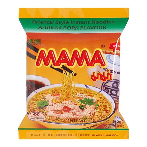 Mama Instant Noodles Pork Flavor - 60g