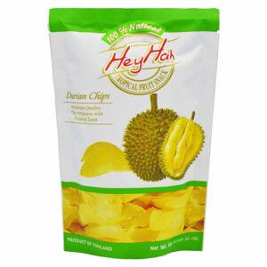 Køb Durian Chips - 50g - Hey Hah fra Danmad online webshop. Danmad er en online butik med fødevareingredienser, 24 timer i døgnet, med en meget rimelig pris,