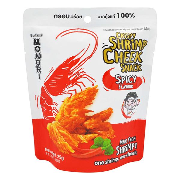 Monori Crispy Shrimp Cheek - Spicy Flavor - 25g