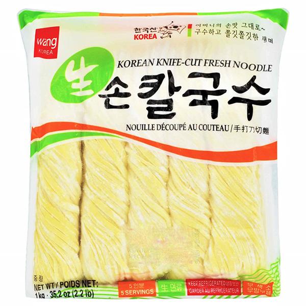 Korean Fresh Noodle (Knife - Cut) - 1000g