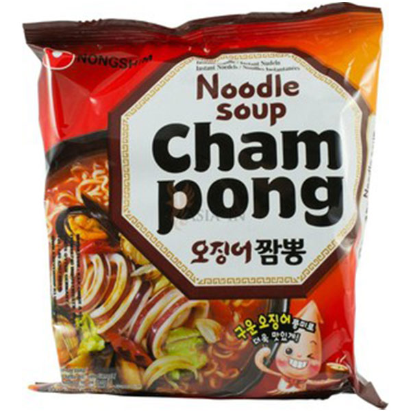 Nongshim Champong Noodle Soup (Spicy Seafood Flavor) - 124g