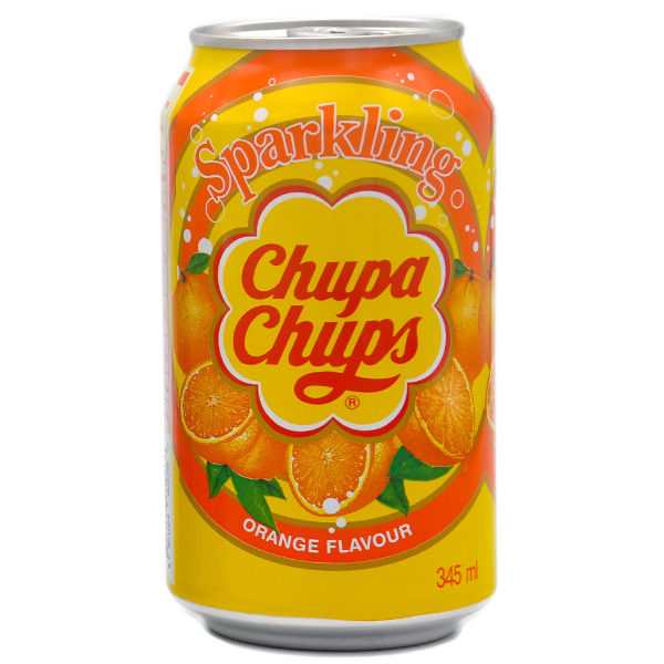 Chupa Chups Soda w/ Orange - 345mL