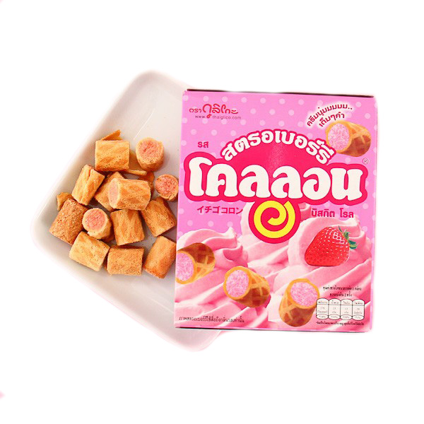 Collon Biscuit Roll - Strawberry - 54g