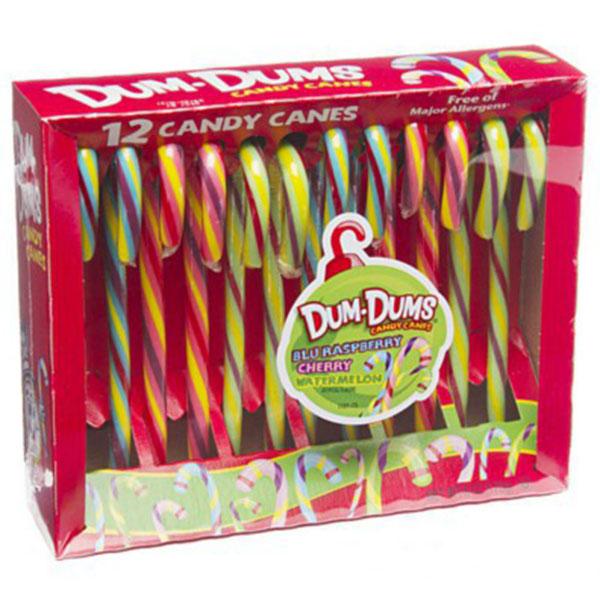 12 Candy Canes Dum-Dums - 170g