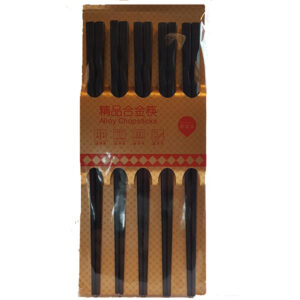 Alloy Plastic Black Chopsticks Family Pack