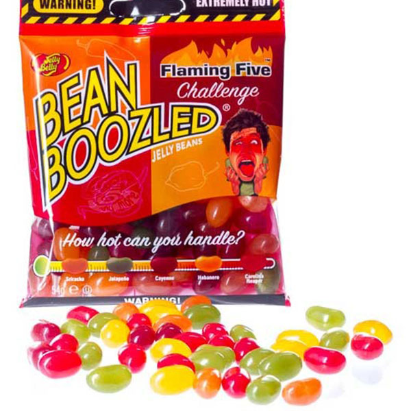 Jelly Bean Boozled Flaming Five Challenge Spinner Bag - 54g