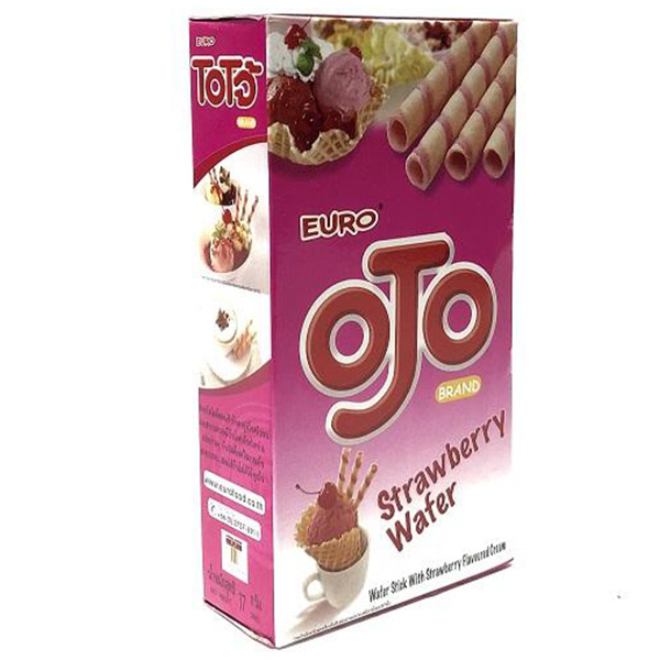 Ojo Wafer Stick Strawberry - 17g
