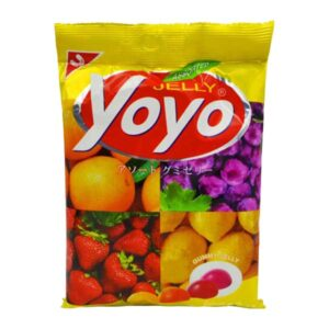 Yoyo Gummy Jelly Assorted Mix Fruit - 80g