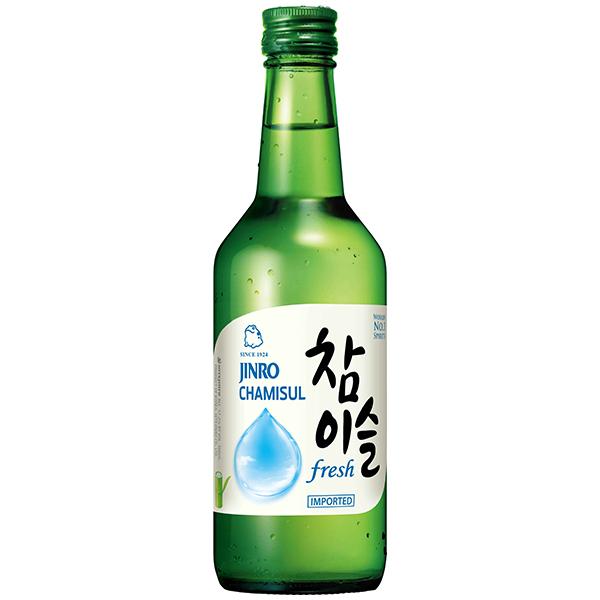 Jinro Soju Chamisul Fresh (17.2%) - 350mL