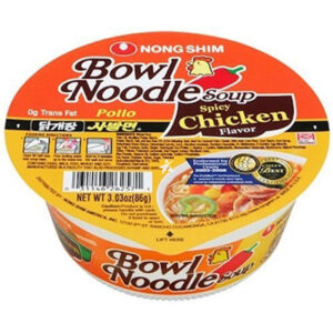 Nongshim Spicy Chicken Flavor Bowl Noodle Soup - 86g