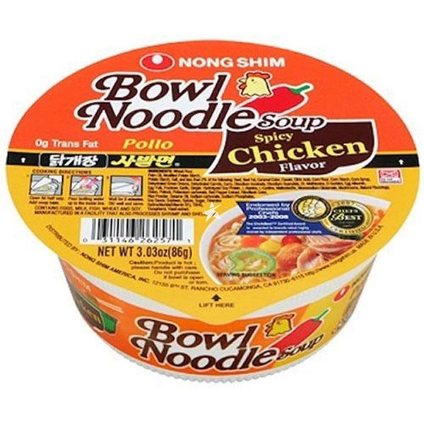 Nongshim Spicy Chicken Flavor Bowl Noodle Soup - 86g