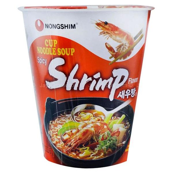 Nongshim Spicy Shrimp Cup Noodle Soup - 67g