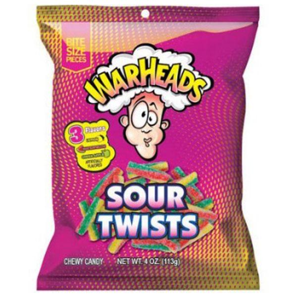 Warheads Sour Twists - 113g