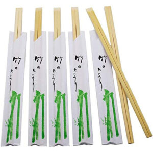 Bamboo Chopsticks 21cm White Envelope (100 pair)