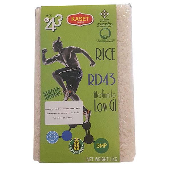 Kaset Brand Low Glycemic Jasmine Rice RD43 - 1kg