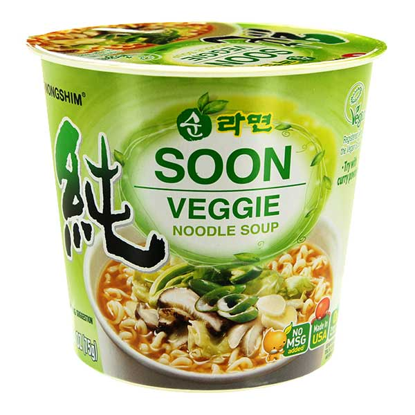 Nongshim Soon Veggie Cup Noodle - 112g