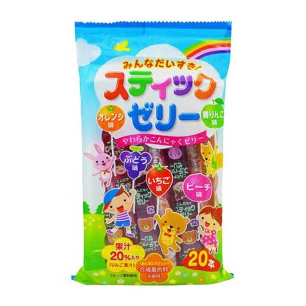 Ribon Jelly Sticks Minna Daisuki (20 pcs) - 320g