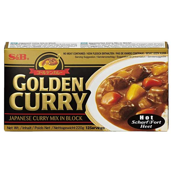 S&B Golden Curry Hot - 220g