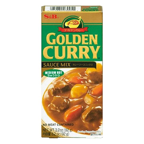 S&B Golden Curry Medium Hot - 92g