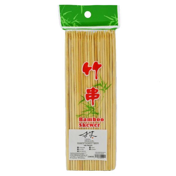 Twin Dragon Bamboo Skewers 18cm (100 pair)