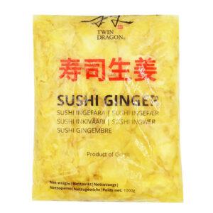 Twin Dragon White Sushi Pickled Ginger Slice - 1kg
