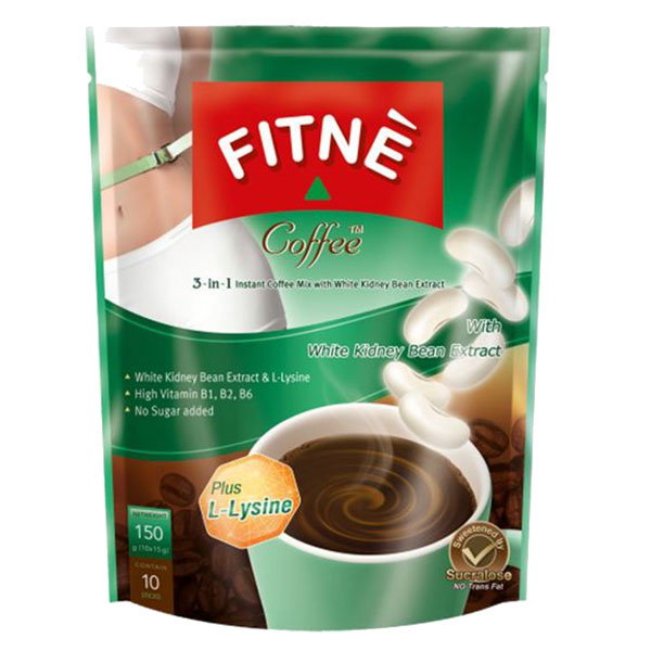 Fitne Instant Coffee Mix with White Kidney Bean Extract - 150g
