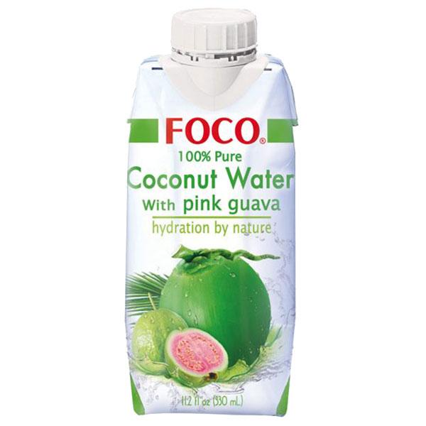 Foco Coconut Water w/ Pink Guava - 330mL