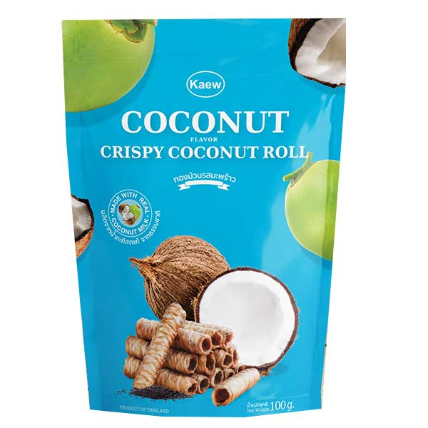 Kaew Crispy Roll Coconut Flavor - 100g