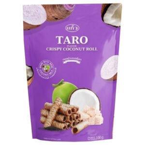 Kaew Crispy Roll Taro Flavor - 100g