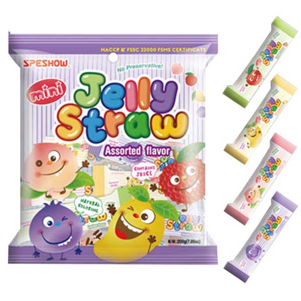 Speshow Mini Jelly Straws Assorted - 200g